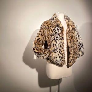 It's Showtime, Leopard Print Faux Fur Coat.